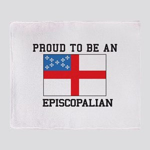 Proud be an Episcopal Flag Throw Blanket